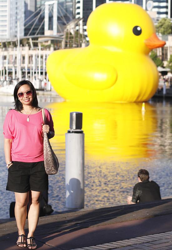 Giant Rubber Duck in Sydney
