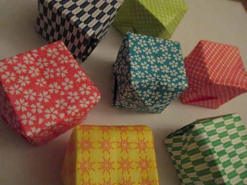Paper origami lanterns
