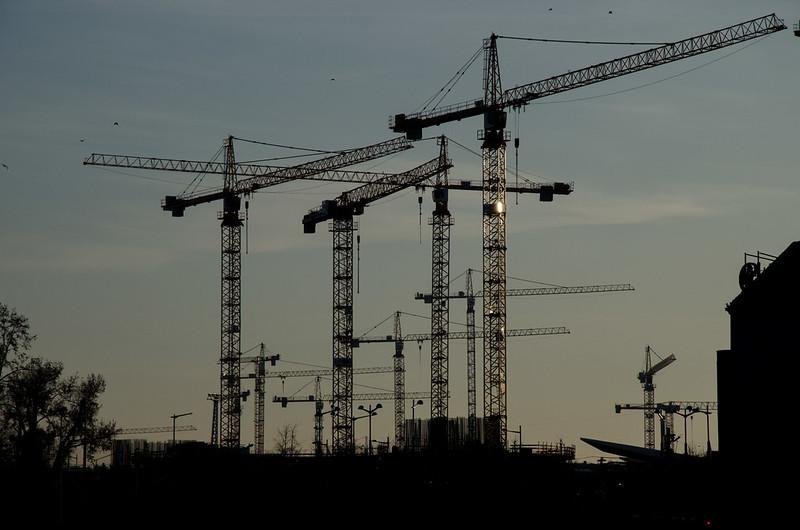 Hauptbahnhof construction