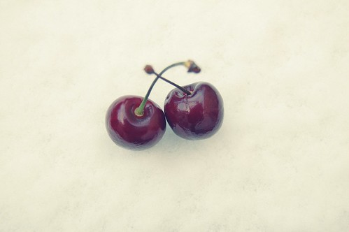 cherries on snow