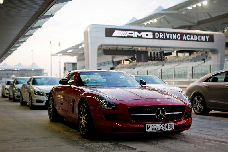 Mercedes-Benz SLS AMG GT at AMG Driving Academy