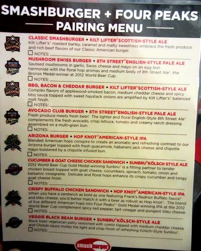 Pairing menu