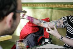 rachel's new tattoo   breakfast at mothers    MG 1739