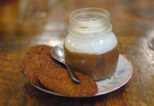 Chocolate Pudding, Ginger Snap Cookies