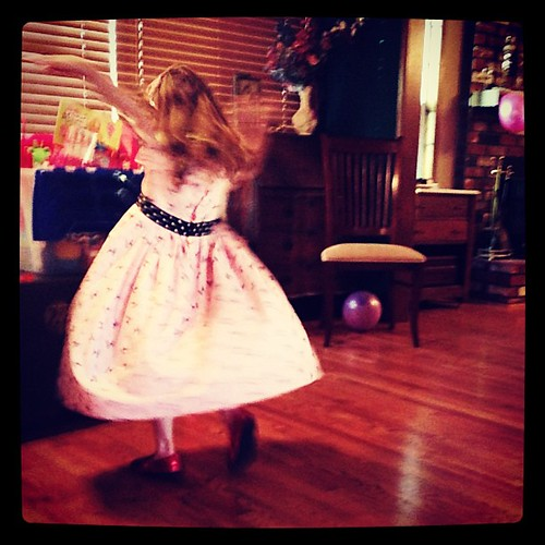 The birthday girl has some serious #style with her dance moves. #projectlife365 #princess