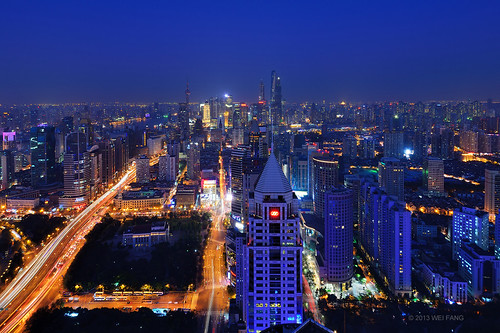 Shanghai Cityscape at Blue Hour by Brady Fang (Shanghai)