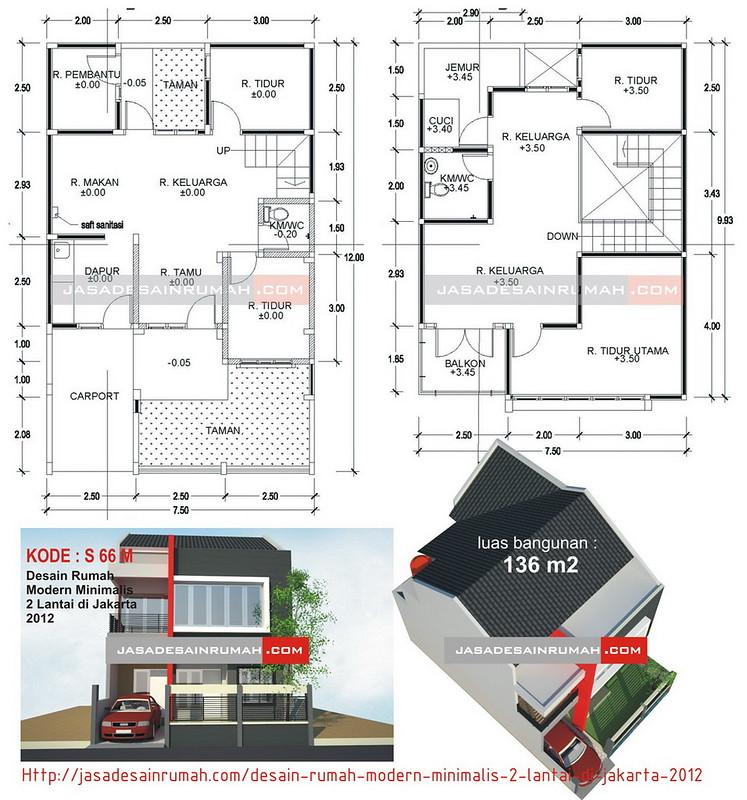 desain rumah modern minimalis 2 lantai di jakarta 2012