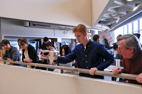 Industrial Design sophomores design and create a device to protect an egg from a 15-ft drop