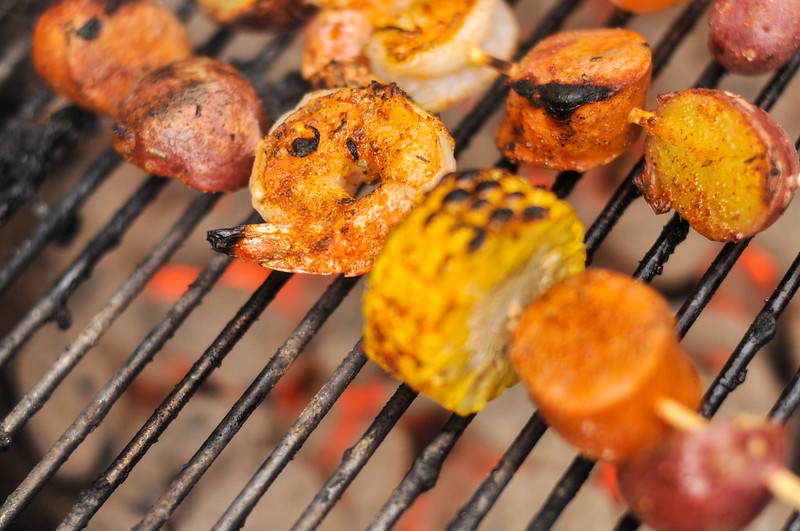 Shrimp Boil Skewers