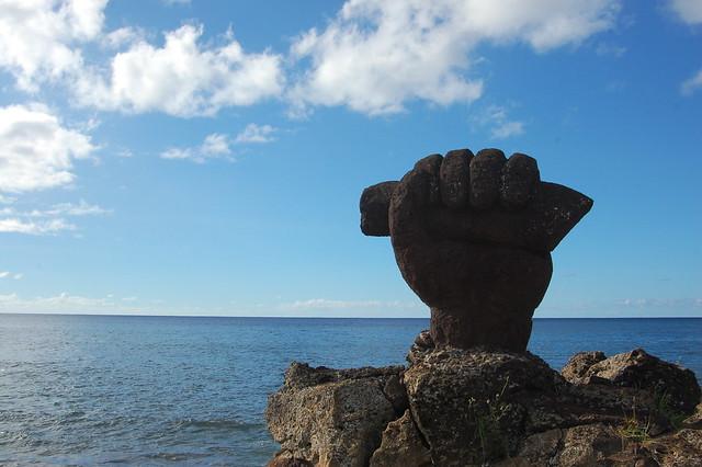 Statue near Hanga Roa