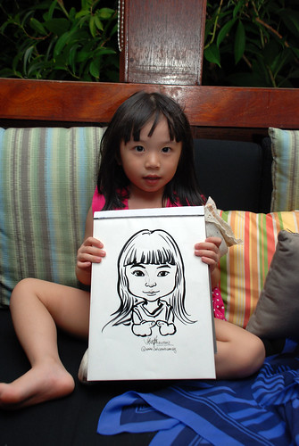 caricature live sketching for Mark Lee's daughter birthday party - 34