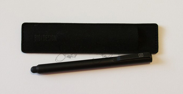 BIGiDESIGN Solid Titanium Pen + Stylus with Sleeve