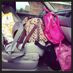 #competitionisthisweekend #dancemom packing the car! Too much stuff. Lordy.
