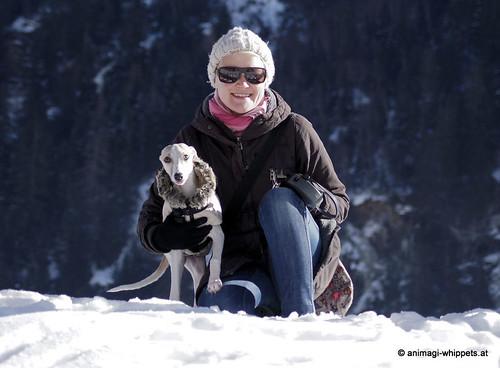 Linda und ihre Chinua beim Whippettreffen Kaunertal