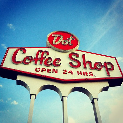 Dot Coffee Shop's neon sign -- a Houston landmark
