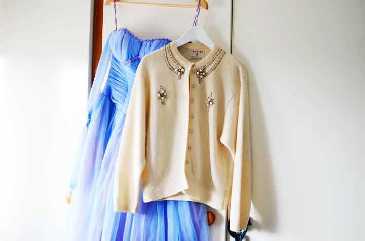 vintage cardigan pearl sparkles f