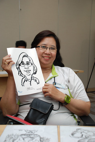 caricature live sketching for Khoo Teck Puat Hospital, Nurses' Day - 8