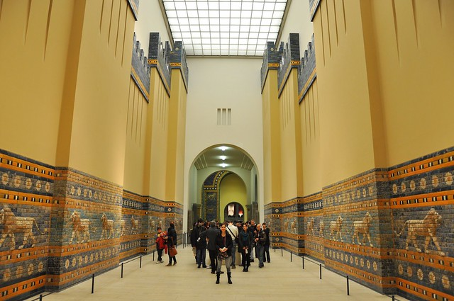 Walkway to Ishtar's Gate at Pergamon Museum in Berlin