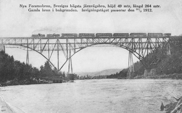 Forsmobron, invigningståg 1912