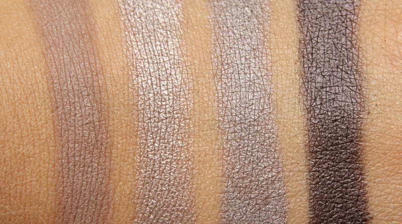 IsaDora soft suede eye shadow quartet swatch