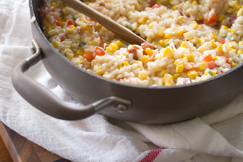 Bacon, Corn and Red Pepper Risotto