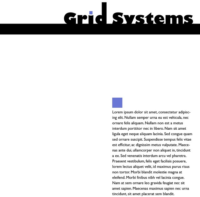 Typography: Grid Systems