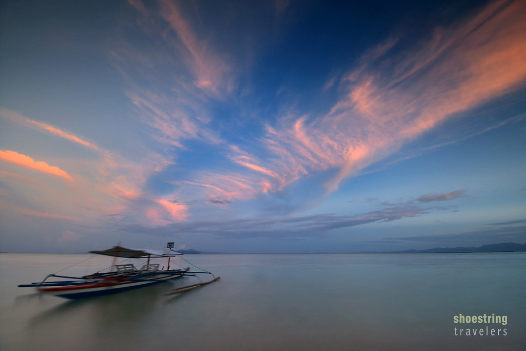 sunset at at Cagbalete Island's eastern shores