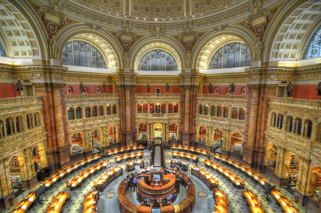 Library of Congress Reading Room HDR