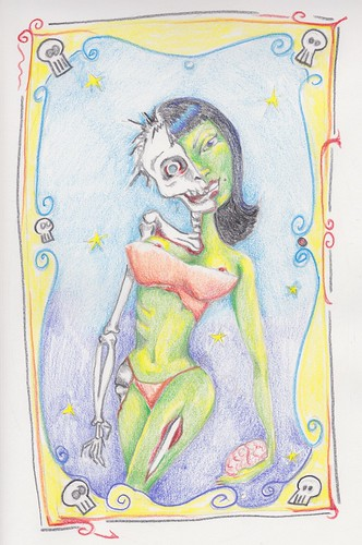 zombie pin up done by wickeddollz