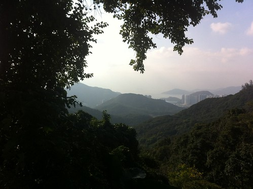View to the south side of Hong Kong island during my run