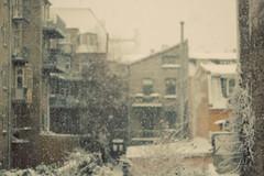 [フリー画像素材] 建築物・町並み, 都市・街, 街角, 家屋・集合住宅, 雪, 風景 - デンマーク ID:201212142000