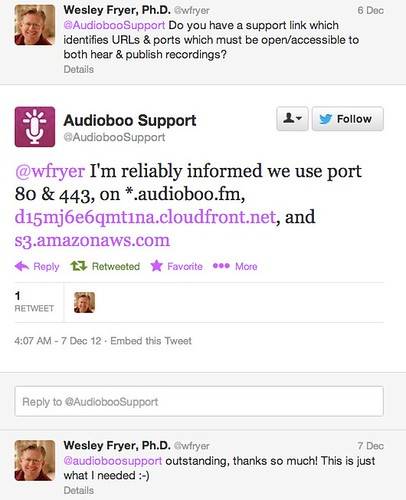 AudioBoo Websites and Ports to Unblock