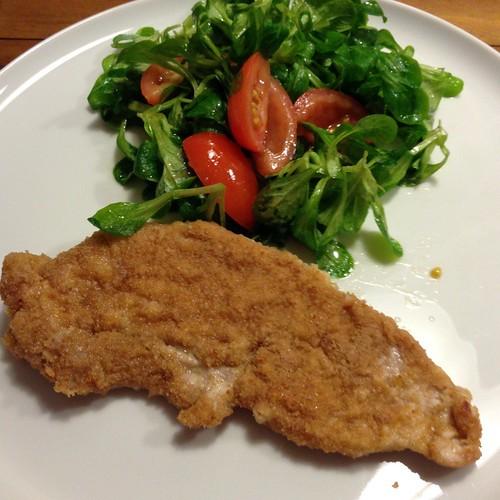 Schnitzel Wiener Art Mit Vogerlsalat Und Paradeisern @ Le Gourmand, Private Home Fine Dining