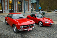 Expo Auto à Spa - ALFA ROMEO Giulia GT 1300 Junior & MAZDA MX5