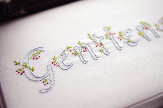 Gentleness Embroidery Pattern by Clementine Pattern Co.