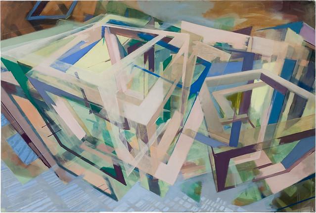 o.T., 100 x 150 cm, Acryl auf Nessel, 2010