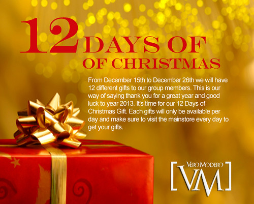 [VM] VERO MODERO 12 DAYS OF CHRISTMAS by Bouquet Babii