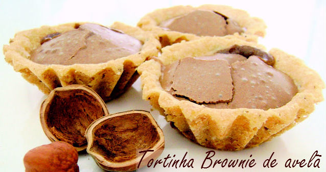 tortinha brownie de avela