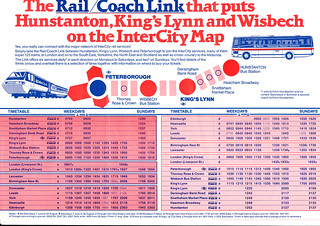 Old Rail Link timetable