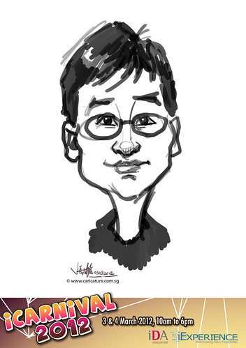 digital live caricature for iCarnival 2012  (IDA) - Day 1 - 85