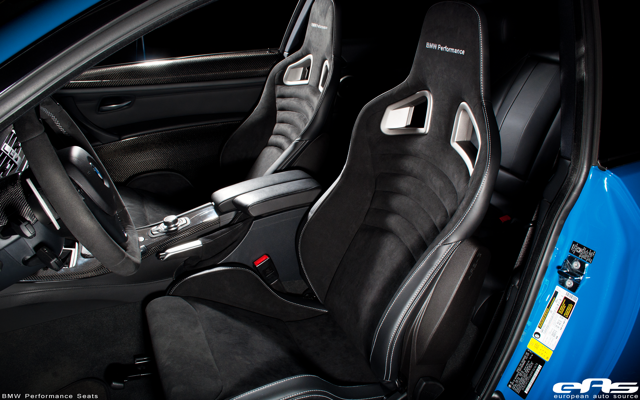 Bmw E92 M Performance >> BMW Performance Seats Installed in a Laguna Seca Blue M3 | BMW Performance Parts & Services