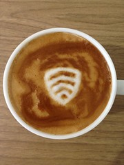 Today's latte, Lookout Mobile Security.