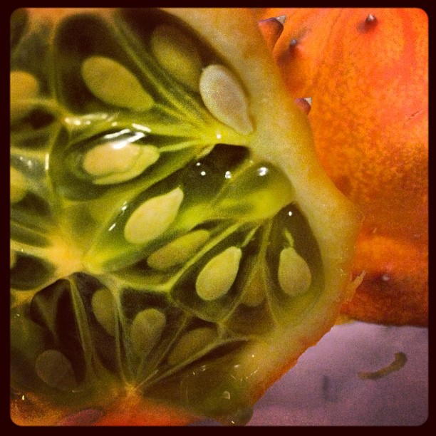 Eating my first Kiwano fruit #food #detroit