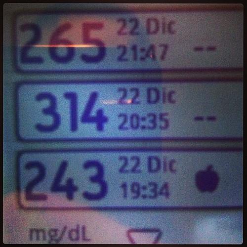Bajando... #diabetes #tipo1 #type1 #hiperglicemia #insulin #insulina #glucómetro #cosasdeladiabetes