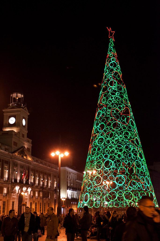 Plaza del Sol, Natal em Madri