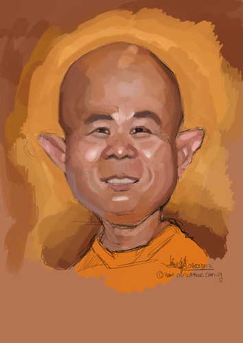 digital caricature for Hewlett Packard - 1a
