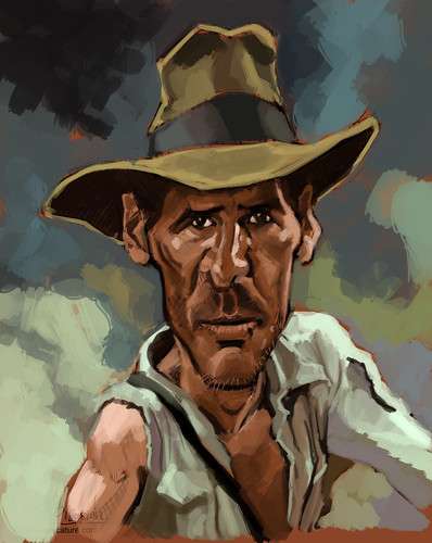 digital caricature of Harrison Ford - 1