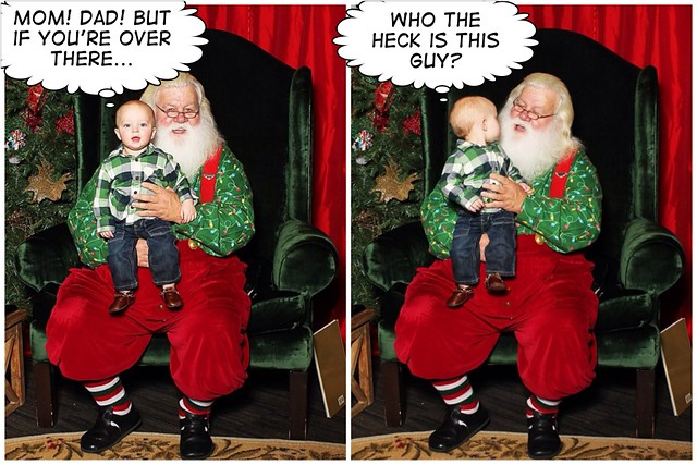 Andrew with Santa Comic