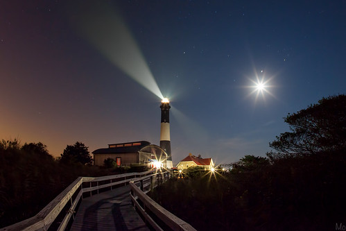 statepark park longexposure light sky moon lighthouse ny newyork color night print stars landscape island photography lights photo scenery gallery unitedstates image fineart stock scenic picture longisland canvas flare moonlight fireisland robertmoses mikeorso