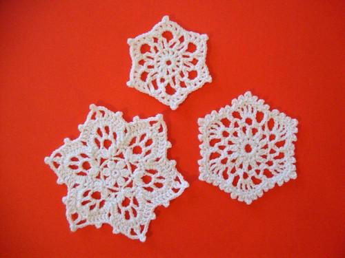 Yarn Snowflakes